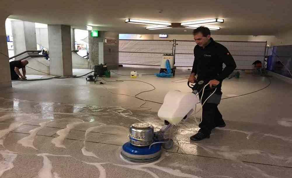 Diep reiniging terrazzo vloer
