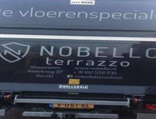 Nieuwe belettering Nobello Terrazzo