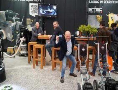 Nobello en HTC terrazzo vloer op de beurs in Utrecht