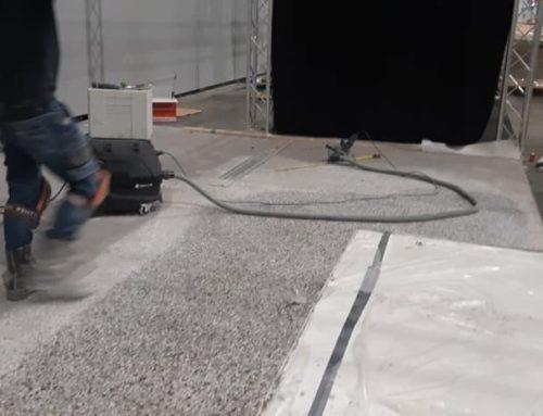 3000 m2 betonvloer slijpen