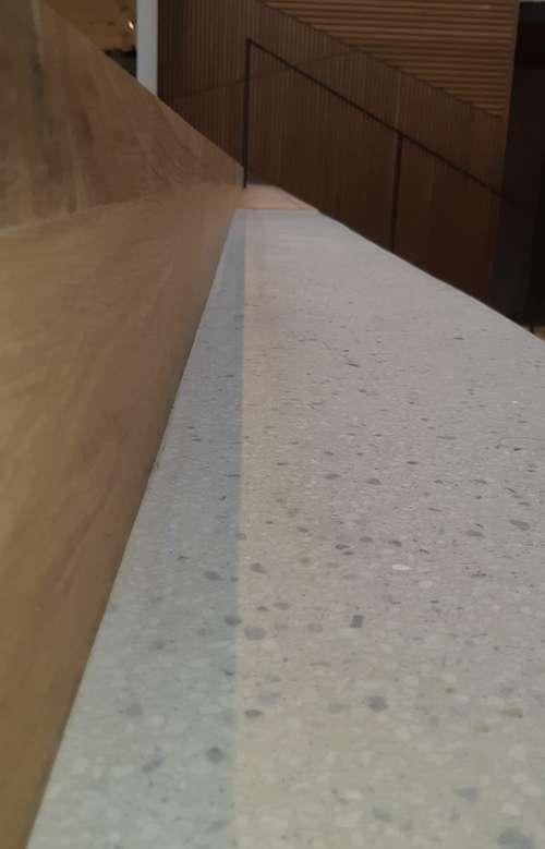 Terrazzo aan huis trap gelegd met terrazzo